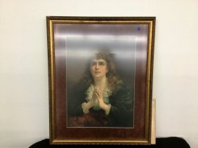 Framed Woman Praying