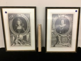 Set Of Two Jacobus Houbraken Engravings
