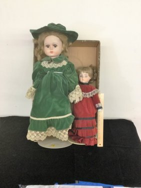 Pair Dolls On Stands