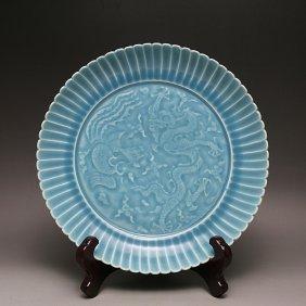 Asian Dragon Porcelain Plate