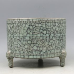 A Chinese Antique Celadon Glazed Porcelain Xi