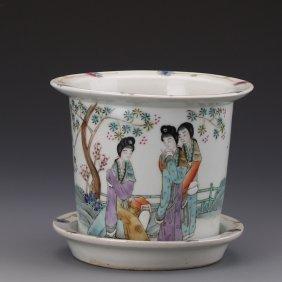 Pastel Maid Flowerpot