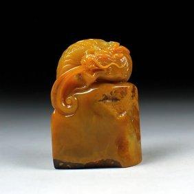Large 'cang Hua' Tian Huang Soapstone