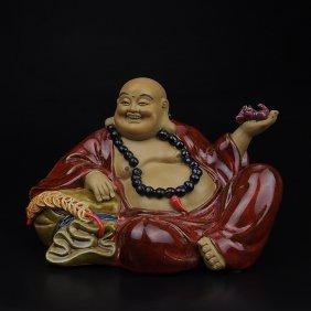 Chinese Shawan Porcelain Maitreya