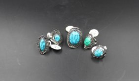 Navajo Sterling Silver Turquoise Ring(five