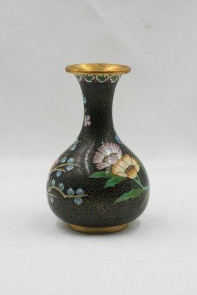 Chinese Cloisonne Vase 19c