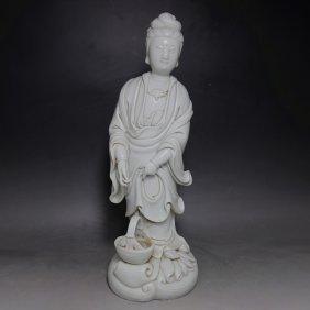 Blanc De Chine Dehua Guanyin Figure