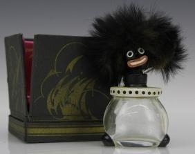 1920's Vigny Golliwogg Glass Perfume Sent Bottle W/ Box