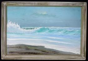 Alfred Hair Florida Highwaymen Seascape Painting