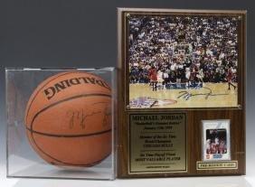 Michael Jordan Autographed Basketball Rookie Card