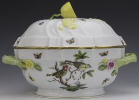 Rothschild Bird Butterfly Herend Soup Tureen Bowl