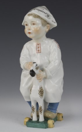 Meissen Germany Hentschel Porcelain Child Figurine