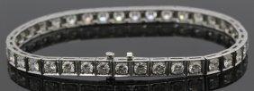 Platinum 4.5 Ct Tw Vs Diamond Line Tennis Bracelet