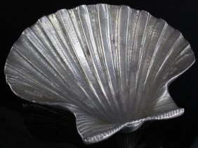 Tiffany & Co. Sterling Silver Sea Shell Dish