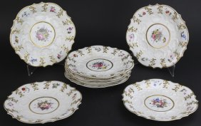 8 Pcs 19c Ridgway English Porcelain Desert Plates