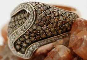 14k Rose Gold 2.25 Carat Tw Chocolate Diamond Ring