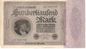 100000 Marks 1923