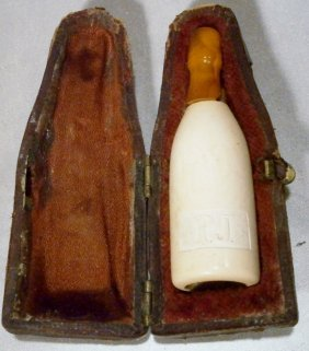 Perrier Jouet Figural Bottle Meerschaum Cigar Holder