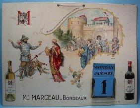 Min Marceau - Bordeaux Advertising Calendar By