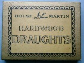 House Martin Hardwood Draughts (checkers)