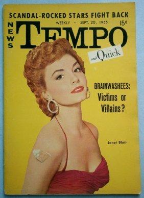 Sept. 1955 Tempo Magazine With Janet Blair & Jonas Salk
