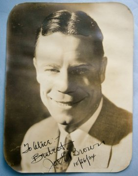 Joey Brown Authentic Autographed Photograph Dated 1934