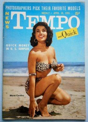 April 1955 Tempo Magazine With Mara Corday & Renee