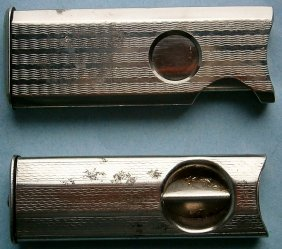 Pair Of 1930s Art Deco Pocket Cigar Cutters Made In