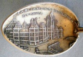 Ottawa Parliament Building Sterling Silver Souvenir