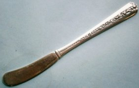 """Towle Sterling Silver """"rambler Rose†Pattern Butter"""