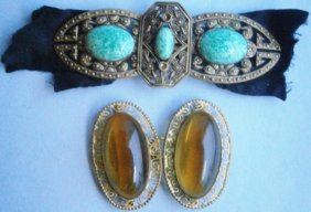 Pair Of 1930s Czechoslovakian Belt Buckles