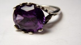 Mexican Sterling Silver Alexandrite Ring Size 8 1/4