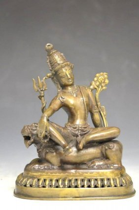 Bronze Statue Of A Deity