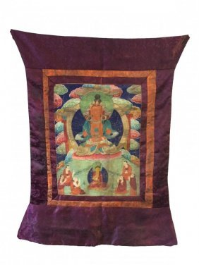 19th C Chinese Tibetan Thangka