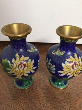Two Enamel Vases