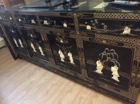 A Chinese Cabinet With Mother Pearl Inlay
