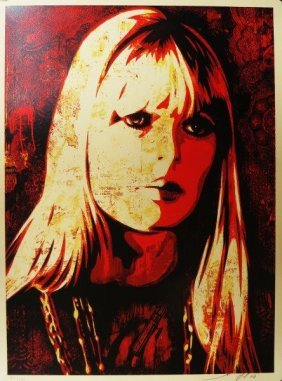 Shepard Fairey (américain, Né En 1970) Nico Canvas