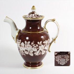 """Kaffeekanne Um 1880, Die Kanne Mit Dem Wappen """"von"""