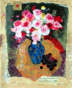 Alexander Wissotsky, Evening Bouquet, Signed Serigraph