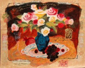 Alexander Wissotsky, Yellow Bouquet, Signed Serigraph