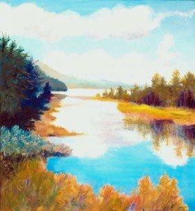 Anne Boysen, Indian Passage, Signed Canvas Print