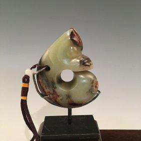 Fine Hongshan Yellow Jade Dragon