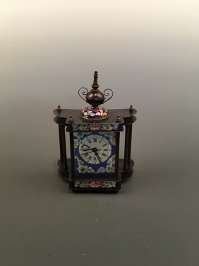 Chinese Fine Cloisonne Clock
