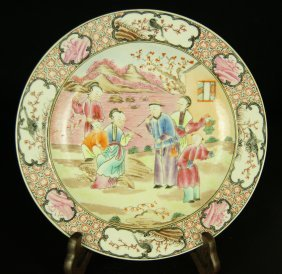 Chinese Guang-cai Porcelain Plate