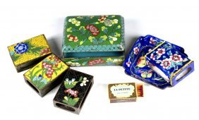 A Set Of 7 Chinese Cloisonne Boxes