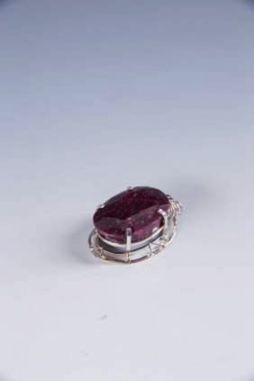 Oval Ruby Pendant