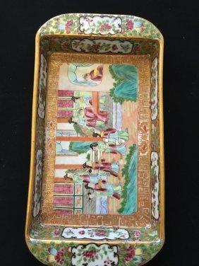 A Chinese Qing Canton Enamel Box