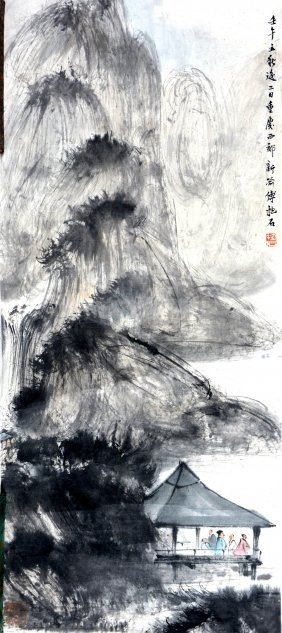 A Chinese Painting Attributed To Fu Baoshi