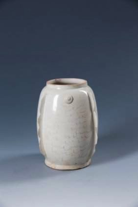 """A Chinese Song Ding Style White-glazed """"fish"""" Vase"""