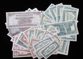 Lot Of 43 Wwii Invasion Notes